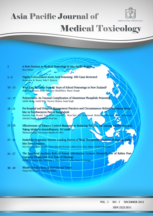 Asia Pacific Journal of Medical Toxicology